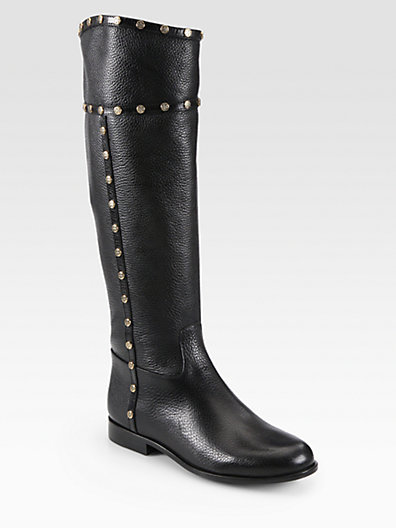 Tory Burch Mae Leather Knee-High Riding Boots