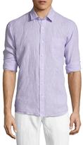 Toscano Linen Solid Spread Collar Sportshirt