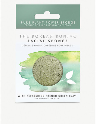 Selfridges The Konjac Sponge Company Konjac facial sponge with mineral-rich green clay- normal to oily skin