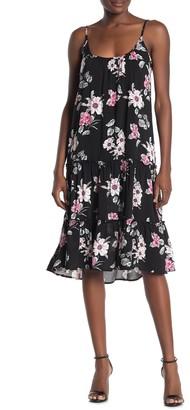 Velvet Torch Floral Print Tiered Tank Dress