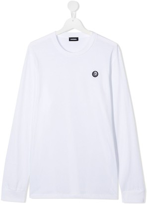 Diesel Long-Sleeved Logo Patch Sweater
