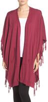 DKNY Fringe Sweater Wrap