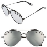 Givenchy Men's Stars 58Mm Aviator Sunglasses - Black