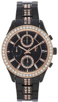 JLO by Jennifer Lopez Women's Marilyn Crystal Two Tone Stainless Steel Chronograph Watch