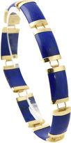 One Kings Lane Vintage Chinese Lapis & Gold Link Bracelet