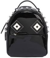 Les Petits Joueurs Baby Mick Mask Patent Leather Backpack