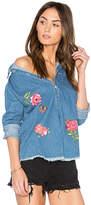 Lauren Moshi Sloane Button Up Denim Shirt. - size M (also in S,XS)