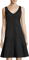 Nanette Lepore Factory Frock Lace-Trim Dress, Black