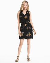 White House Black Market Soft Floral Blouson Dress