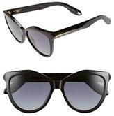 Givenchy Women's 55Mm Retro Sunglasses - Shiny Black