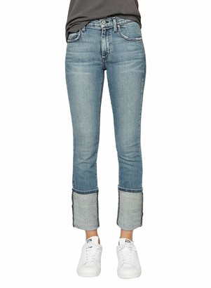 James Jeans Women's Sneaker Straight Ankle Length Jean in Melrose Cuff 30