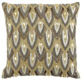 Pier 1 Imports Calico Metallic Beaded Scale Pillow