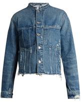 Helmut Lang Frayed-edge cropped denim jacket