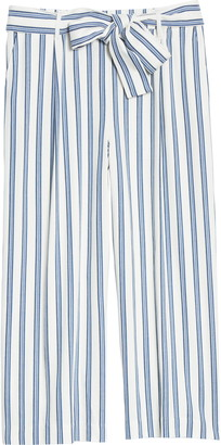 Halogen Stripe Tie Waist Wide Leg Pants