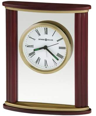 Howard Miller Victor Tabletop Clock 645-623 - Wood & Glass Features with Quartz Movement