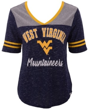 Colosseum Women's West Virginia Mountaineers Mr Big V-Neck T-Shirt