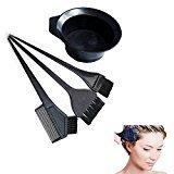 VNDEFUL 4Pcs Black Salon Hair Coloring Dyeing Kit Dye Brush Comb Bowl Tint Tool Kit