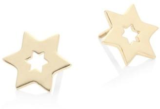 Lana Girl Star 14K Yellow Gold Stud Earrings