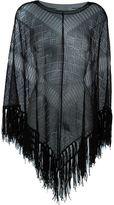 Valentino fringed knit poncho