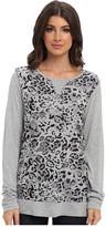 Michael Stars Cheetah Print L/S Sweatshirt