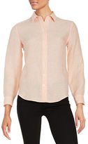 Lord & Taylor Petite Linen Blouse