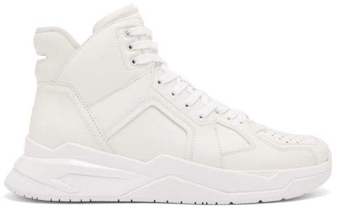 Trainers Mens Basketball White Panelled Leather cT3lFK1J