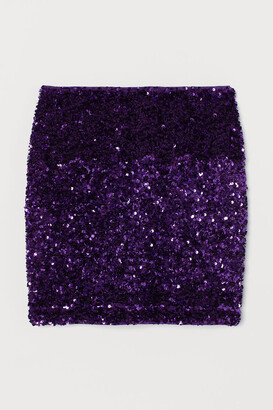 H&M Sequined Skirt - Purple