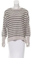 Rebecca Taylor Striped Wool Sweater
