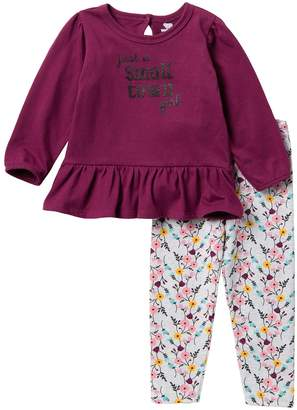 Koala Baby Small Town Peplum Top & Pants Set (Big Girls)