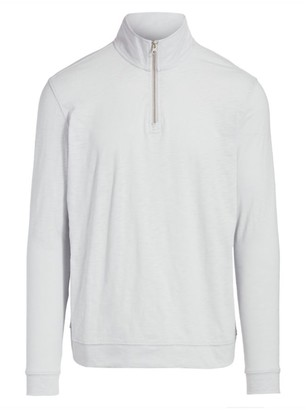 Saks Fifth Avenue COLLECTION Quarter Zip Slub Knit Pullover