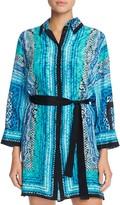 Gottex Snake Charmer Silk Shirt Dress Cover-Up
