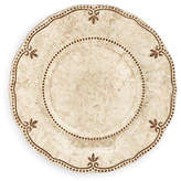 Q Squared Set of 4 Rustica Melamine Salad Plates - Bone White