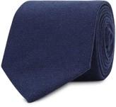Drake's Dark Blue Cashmere Tie