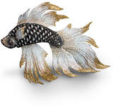 Jay Strongwater 20th Anniversary Limited Edition Iridescent Fighting Fish Figurine