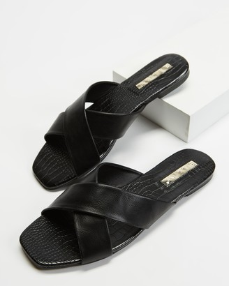 Billini - Women's Black Strappy sandals - Taryn - Size 5 at The Iconic