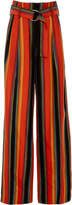 Diane von Furstenberg Wide Leg Striped Pant