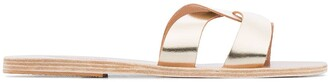 Ancient Greek Sandals metallic desmos leather sandals