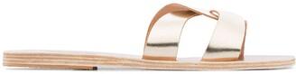 Ancient Greek Sandals Platinum Desmos Leather Sandals