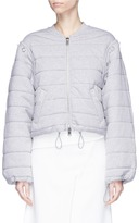 3.1 Phillip Lim Detachable sleeve French terry quilted bomber jacket