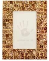 Glass mosaic photo frame (4x6), 'Golden Fireflies'