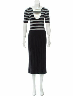 Chanel 2019 Knit Midi Dress Black