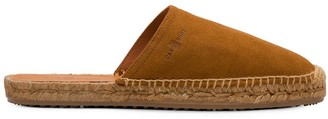 Car Shoe Logo Embossed Espadrille Mules