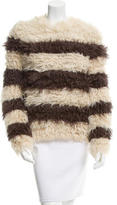 Thakoon Patterned Fur Sweater
