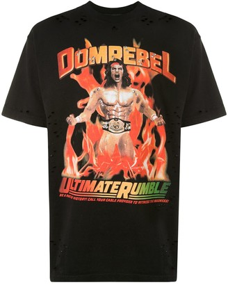 Dom Rebel destroyed crystal Wrestler T-shirt