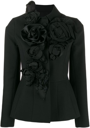 Dice Kayek Rose Applique Jacket