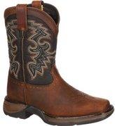 "Durango Western Boot Boys 8"" Raindrop Cowboy Heel 7 Infant Tan DWBT048"