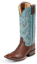 Justin Boots Women's Aqha Smooth Ostrich Remuda Broad-toe Boot
