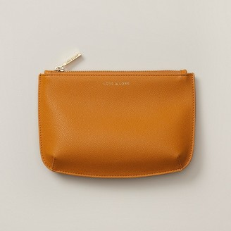Love & Lore Small Curved Pouch Mustard