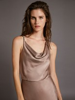 Halston COWL SATIN DRESS