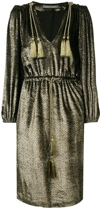 Alberta Ferretti Metallic Sheen Dress